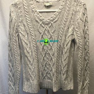St. John's Bay Cable Knit Sweater - Petite Small